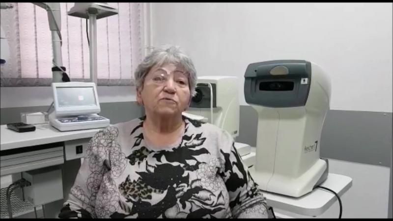 Отзыв пациентки из Пятигорска после операции по удалению катаракты