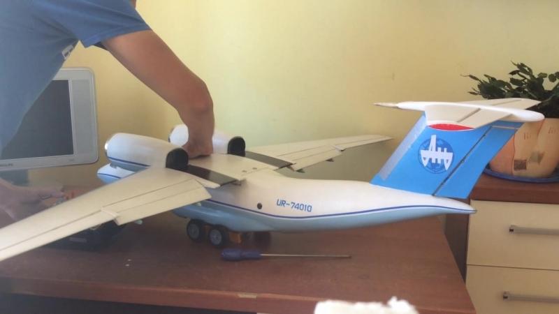 Первые газовки авиамодели Ан 74т