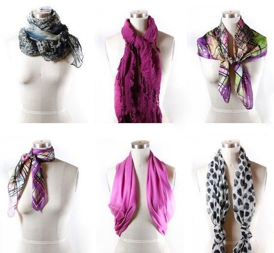 Как красиво завязать шарф! (7 фото) - картинка