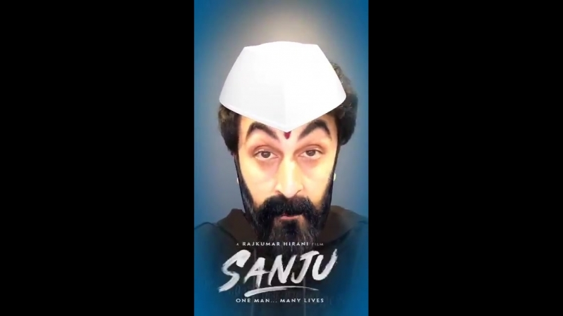Ranbir would spend 8 hours putting on his Sanju face during the shoot, but you can do it in under a minute with the Sanju Face F