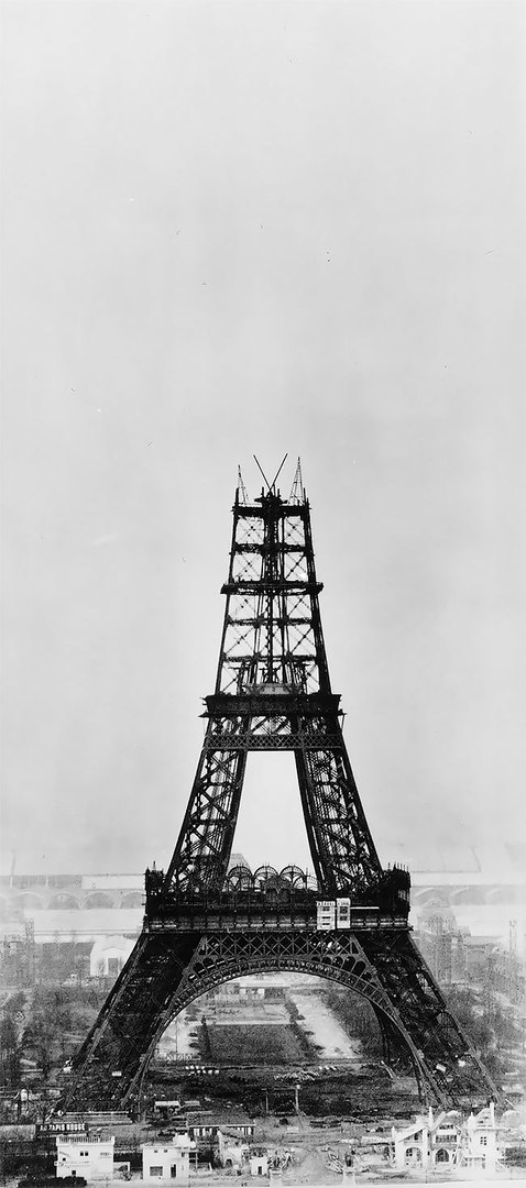 Historical Photographs of the Eiffel Tower Building
