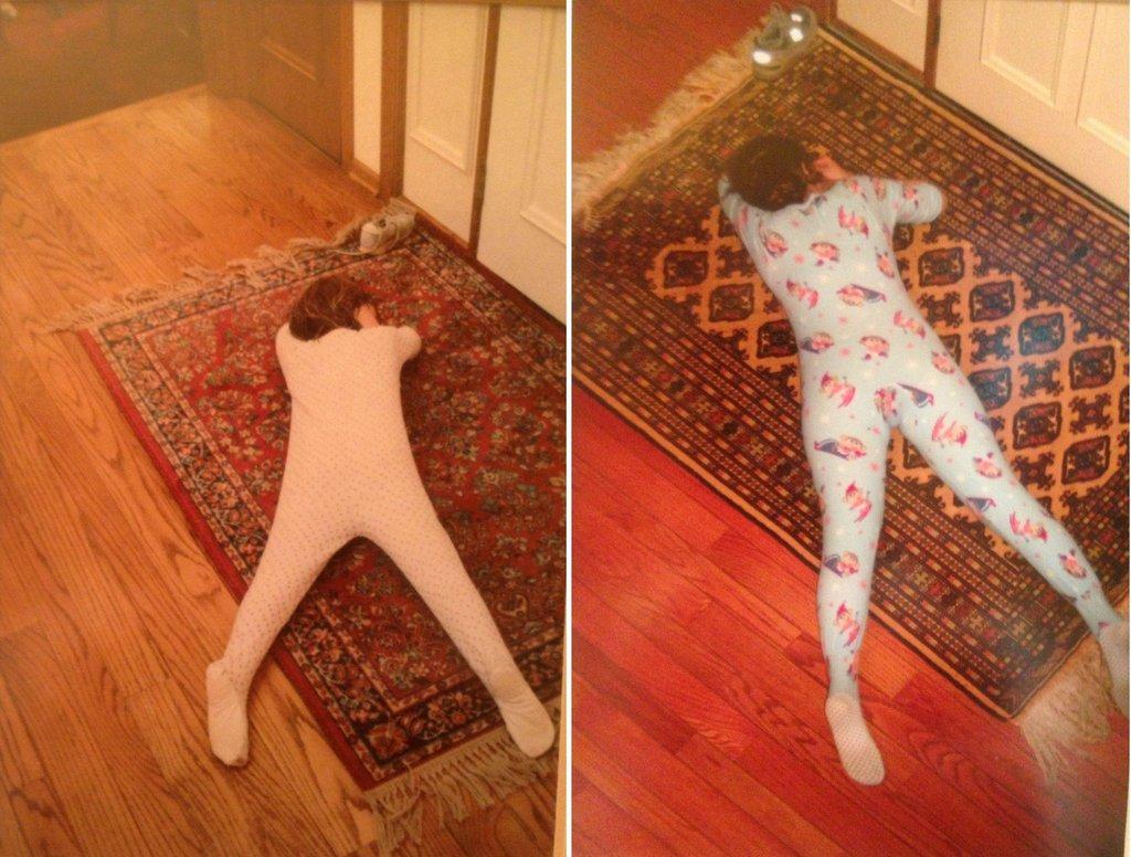 Воссозданные странные спящие фотки)