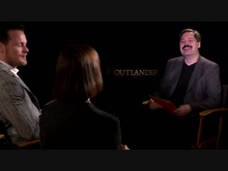 Sam Heughan Caitriona Balfe Exclusive Interview for OUTLANDER_ SEASON 4