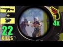 AKM 4x SCOPE IS OP SOLO VS SQUAD PUBG MOBILE