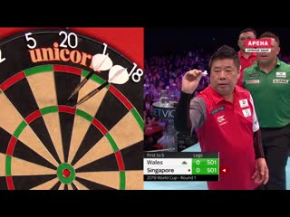 Wales vs Singapore (PDC World Cup of Darts 2019 / Round 1)