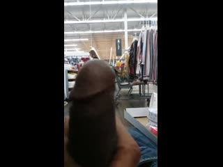 Risky flash in walmart to a milf. almost caught be husband!!!!
