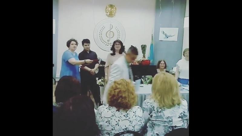 Ұлымның М.Төлебаев атындағы музыкалық мектепті бітіруі
