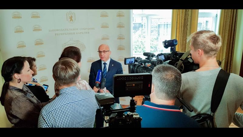 Пресс подход спикера карельского парламента Элиссана Шандаловича