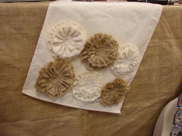 Цветы из мешковины своими руками