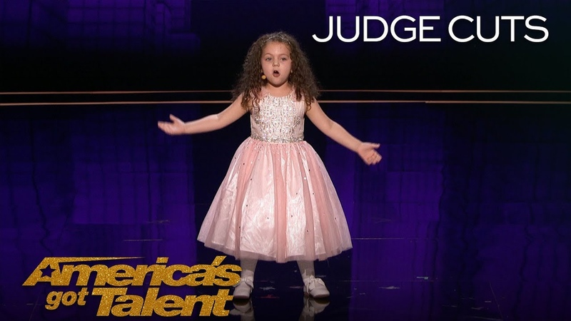 Sophie Fatu AGT's Youngest Performer EVER Sings New York, New York - America's Got Talent 2018