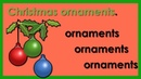 Learn Christmas Vocabulary, Plural Nouns. Easy English Vocabulary Practice.