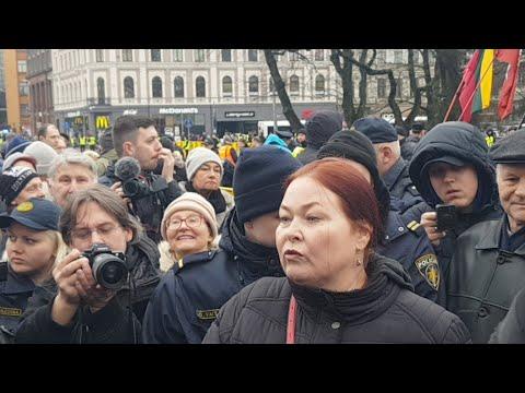 Скандал на марше легионеров Ваффен СС в Риге 16 03 2019