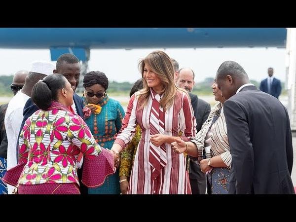 Почему первая леди США поехала в турне по Африке без Дональда Трампа Фрагмент Ньюзтока RTVI