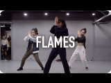 1Million dance studio Flames - David Guetta & Sia / Jin Lee Choreography