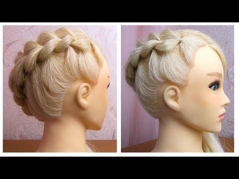 Tuto coiffure simple: belle coiffure facile à faire soi même ✨ Coiffure sur le coté