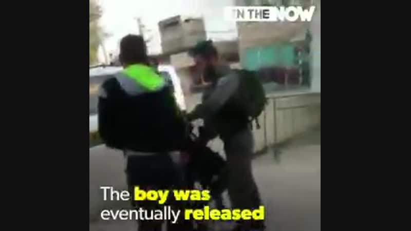 Israeli colonial thugs detain and terrorize Palestinian kids as age of THREE.And Hollywood stars col