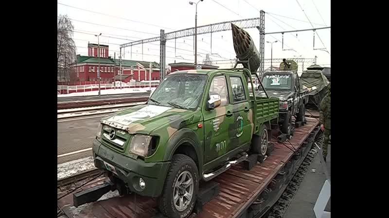 В Курск прибыл поезд с трофейным оружием сирийских боевиков