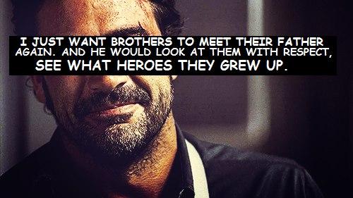 — Я просто хочу, чтобы братья ещё раз встретили отца, и он посмотрел на них с ув...