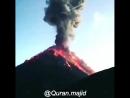 Начало извержения вулкана в Гватемале