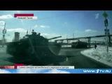 Снова танки на дороге: авария едва не произошла в Свердловской области. 2013