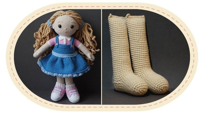 Вязаная кукла крючком Розали часть 1 ноги . Crochet doll Rosalie part 1 legs .