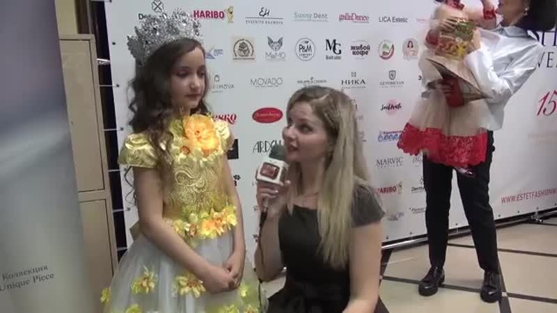 Интервью юной модели и дизайнера корон Виктории Чуфистовой