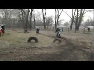 PitbikeUkraine PitPark Sumy 06.03.2014 укладка трассы.