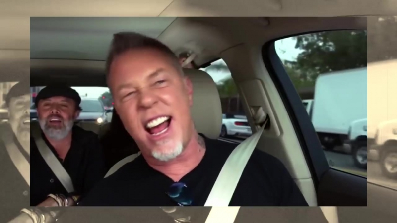Metallica singing Rihannas Diamonds in Carpool Karaoke