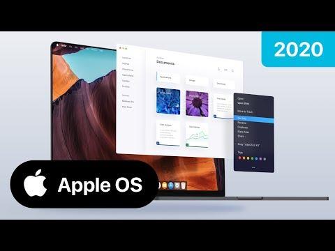 Apple OS / MacOS futuristic UI concept - Edge to Edge Macbook iPhone design