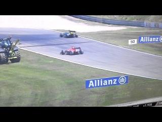 Runaway Formula 1 Car - German GP 2013