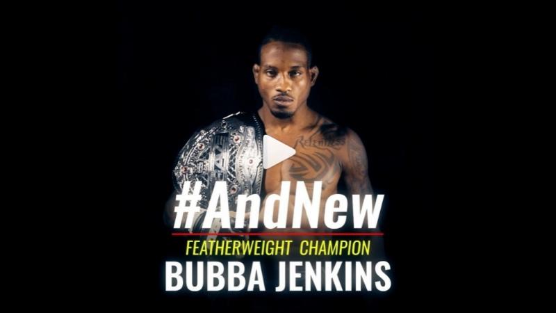 Your NEW Brave Featherweight World Champion! @bubba_jenkins 🇺🇸 BraveCF16