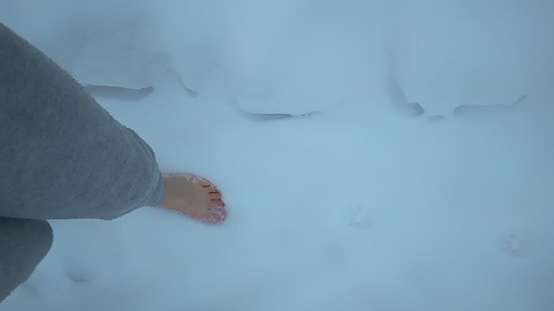День девятнадцатый. Босиком по снегу.
