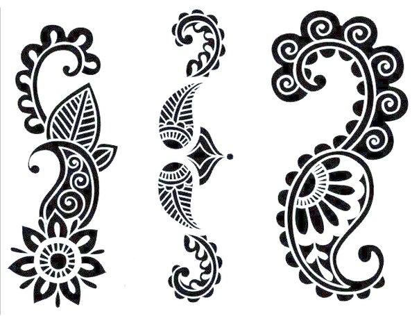 Трафареты для рисунка хной