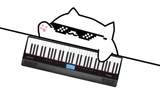 when bongo cat only knows 5 notes but gotta set the club on fire