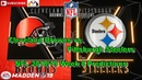 Cleveland Browns vs. Pittsburgh Steelers | NFL 2018-19 Week 8 | Predictions Madden NFL 19