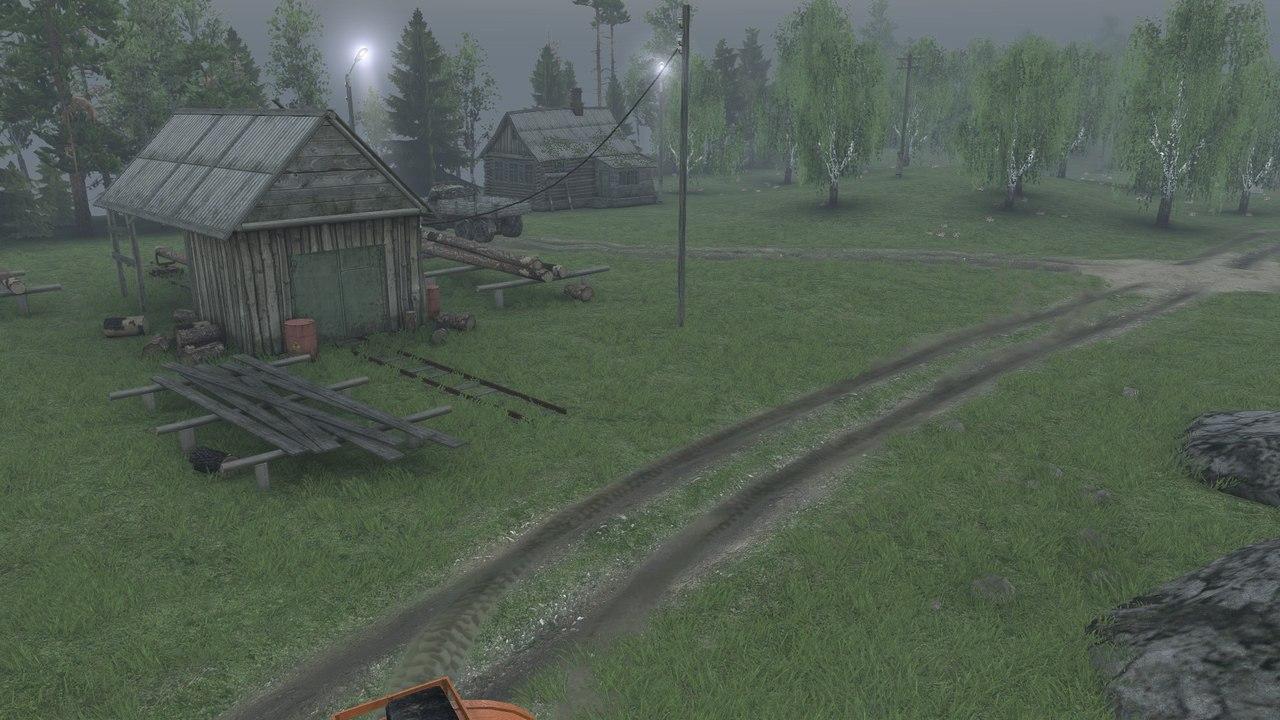 """Карта """"Долгая дорога"""" для 25.12.15 для Spintires - Скриншот 2"""