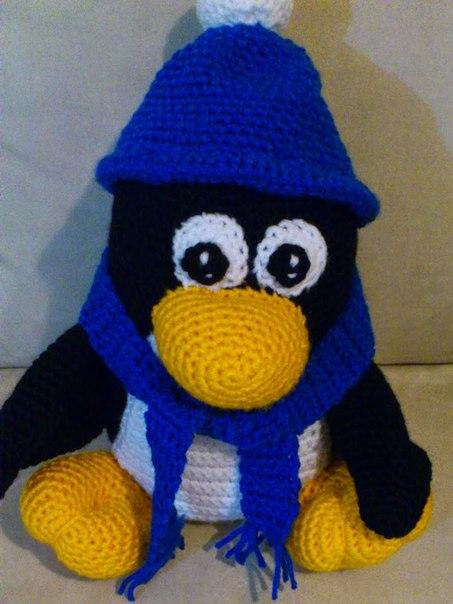 Пингвин амигуруми. Схема