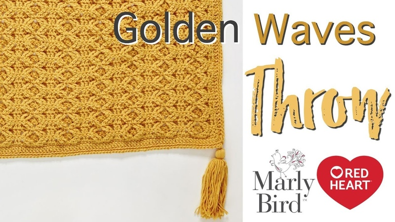 Crochet Cabled Blanket -- No Post Stitches -- 🌟Golden Waves Throw 🌟 [Right Handed]