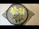 Нарциссы вышитые лентами / Daffodils embroidered with ribbons