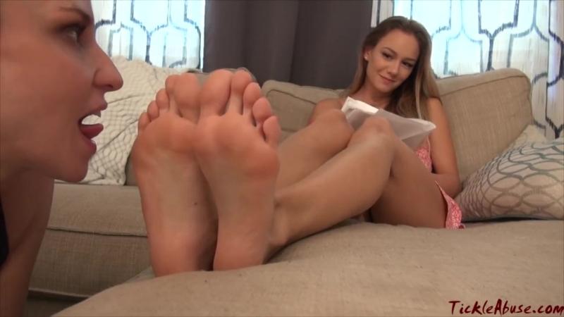 Honey and naomi tickle feet