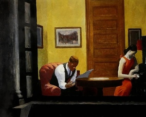 E.Hopper - Room in New York (Painting to 3d) · #coub, #коуб