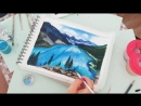Speed Art Scenery Moraine lake