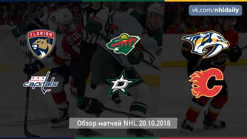 Обзор всех матчей NHL за 20 10 2018