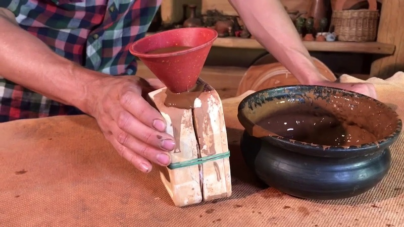 Отливка яйца в гипсовую форму Обучение гончарству Волшебство керамики