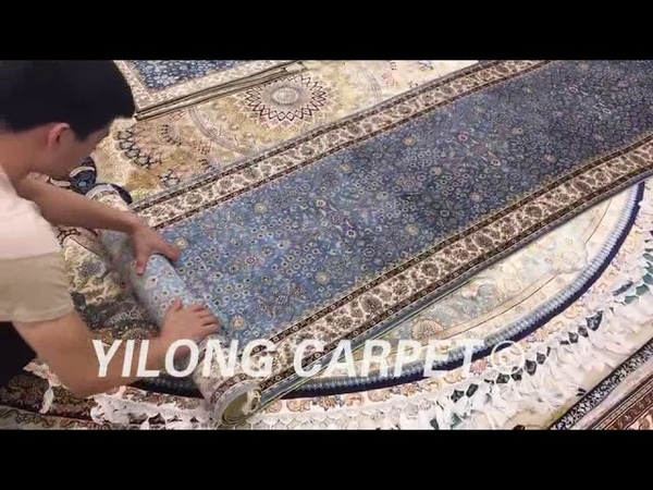 Deliver the hand knotted silk Persian runnerrugs to our customer.