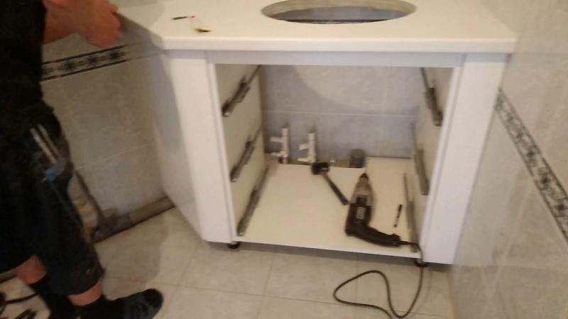 Мебель в ванную комнату Эмалевые фасады