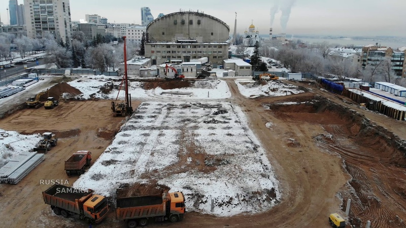 Cтроительство нового дворца спорта на Молодогвардейской город Самара