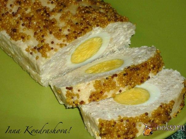 Мясной хлеб с яйцом Мясной хлеб с яйцом - вкусная мясная закуска. Станет украшением любого праздничного стола.
