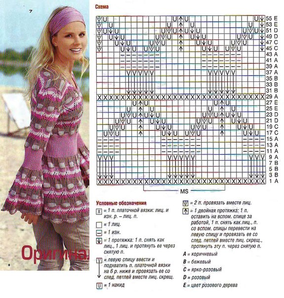 Миссони вязание на спицах платье
