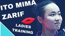 ITO Mima - ZARIF Audrey Table Tennis Training - Practice, serve, forhand, backhand